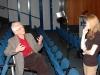 Bernard Krawczyk w sali audytoryjnej Parnassos Biblioteki Śląskiej