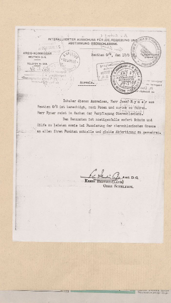 Skan dokumentu w języku niemieckim
