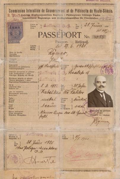 Skan paszportu Józefa Rymera